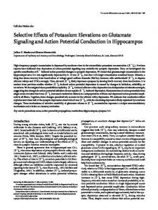 Selective Effects of Potassium Elevations on