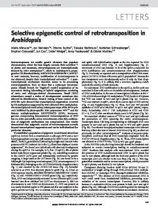 Selective epigenetic control of retrotransposition in ... - SFC Bio