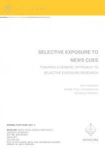 selective exposure to news cues