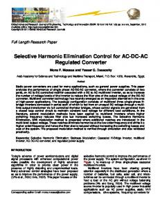 Selective Harmonic Elimination Control for AC-DC-AC ...