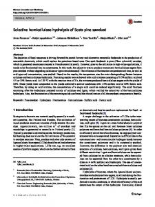 Selective hemicellulose hydrolysis of Scots pine