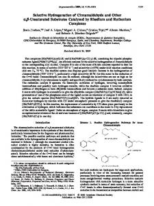 Selective Hydrogenation of Cinnamaldehyde and ...