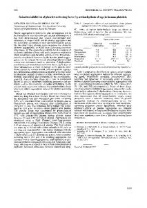 Selective inhibition of platelet-activating factor by ...