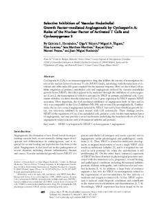 Selective Inhibition of Vascular Endothelial Growth ... - BioMedSearch