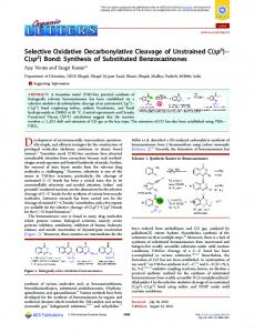 Selective Oxidative Decarbonylative Cleavage of ... - ACS Publications