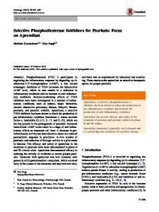 Selective Phosphodiesterase Inhibitors for Psoriasis: Focus on ...