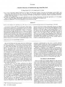 Selective Recovery of X enthomonas spp. from Rice Seed - American ...