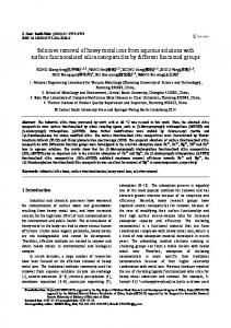 Selective removal of heavy metal ions from aqueous ... - Springer Link