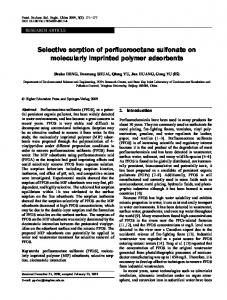 Selective sorption of perfluorooctane sulfonate on ... - Springer Link