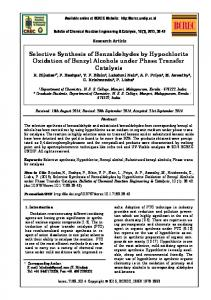 Selective Synthesis of Benzaldehydes by Hypochlorite ... - CiteSeerX
