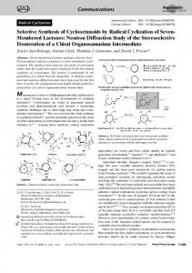Selective Synthesis of Cyclooctanoids by Radical