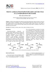 Selective synthesis of functionalized allyl amines and