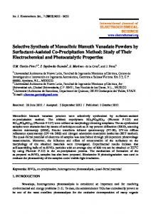 Selective Synthesis of Monoclinic Bismuth Vanadate Powders by ...