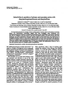 Selectivities in acylation of primary and secondary ... - Semantic Scholar