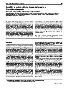 Selectivity of protein oxidative damage during aging in ... - NCBI