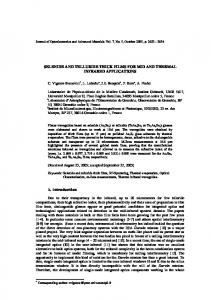 selenide and telluride thick films for mid and thermal infrared ...