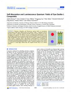 Self-Absorption and Luminescence Quantum ... - ACS Publications
