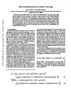 Self-Accelerating Universe in Galileon Cosmology