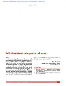 Self-administered osteoporosis risk score