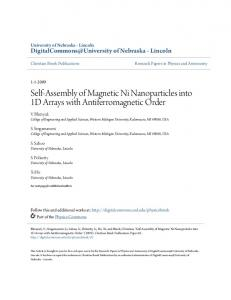 Self-Assembly of Magnetic Ni Nanoparticles into ... - Semantic Scholar
