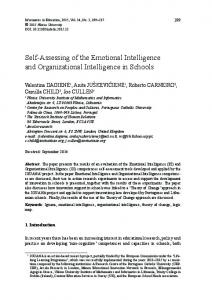 Self-Assessing of the Emotional Intelligence and Organizational ... - Eric