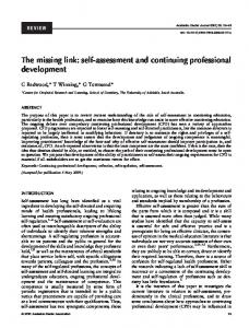 self-assessment and continuing professional ... - Wiley Online Library