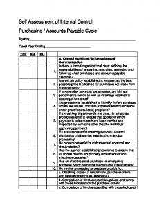 Self Assessment of Internal Control Purchasing ... - Maine.gov