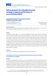 Self-assessment via a blended-learning strategy to improve ...