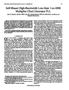 Self-biased high-bandwidth low-jitter 1-to-4096 multiplier clock ...