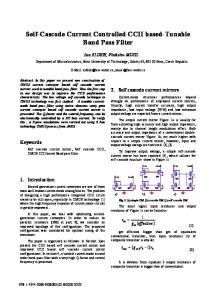 Self-Cascode Current Controlled CCII based-Tunable ... - IEEE Xplore