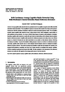 Self-Coexistence Among Cognitive Radio Networks ... - IEEE Xplore