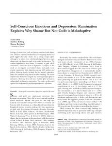 Self-Conscious Emotions and Depression: Rumination ... - Ulrich Orth