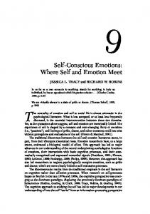 Self-Conscious Emotions: Where Self and Emotion Meet - CiteSeerX
