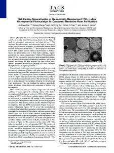 Self-Etching Reconstruction of Hierarchically ... - ACS Publications