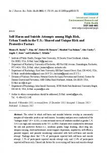 Self-Harm and Suicide Attempts among High-Risk ... - CDC stacks