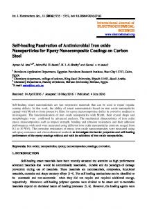 Self-healing Passivation of Antimicrobial Iron oxide Nanoparticles for ...