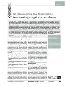 Self-nanoemulsifying drug delivery systems