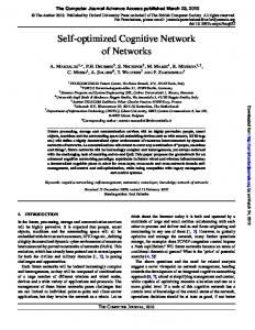 Self-optimized Cognitive Network of Networks - CiteSeerX