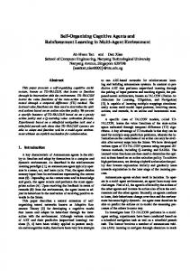 Self-Organizing Cognitive Agents and Reinforcement Learning in Multi ...