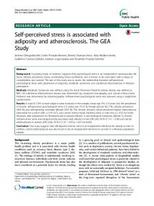 Self-perceived stress is associated with adiposity