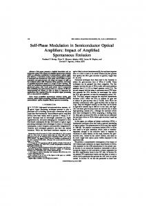 Self-Phase Modulation in Semiconductor Optical Amplifiers