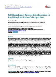Self-Reporting of Adverse Drug Reactions in Iraqi Hospitals - Scientific ...