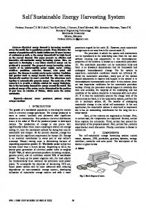 Self sustainable energy harvesting system