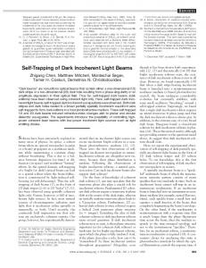 Self-Trapping of Dark Incoherent Light Beams