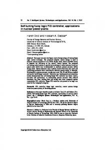 Self-tuning fuzzy logic PID controller, applications in ...