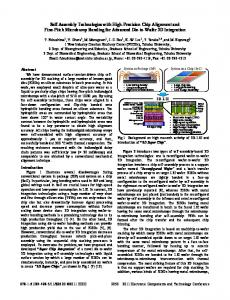 SelfAssembly Technologies with HighPrecision Chip ... - IEEE Xplore