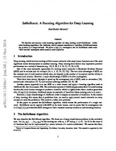SelfieBoost: A Boosting Algorithm for Deep Learning