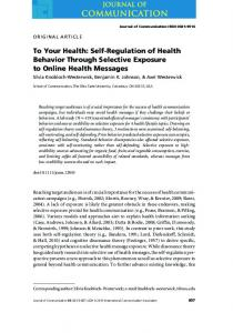 SelfRegulation of Health Behavior Through Selective Exposure to ...