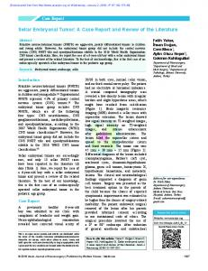 Sellar Embryonal Tumor: A Case Report and Review
