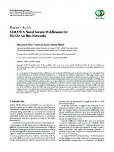SEMAN: A Novel Secure Middleware for Mobile Ad Hoc Networks